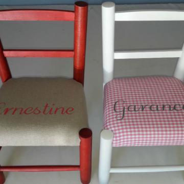 Chaise enfant personalise - Ernestine Garance