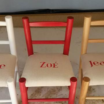 Chaise enfant personalise - Estelle Zoe Jeanne