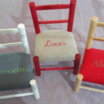 Chaise enfant personalise - Louis Marceau Alexis